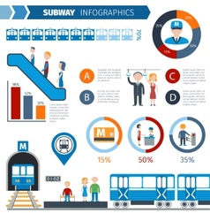 Subway Infographics Set vector image vector image