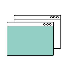 web navigator symbol vector image