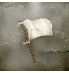 White flag old style vector image