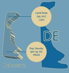 Delaware 3D info graphic vector image