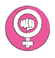 Emblem symbol to fight for rights of women vector