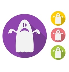 Ghost flat vector image vector image