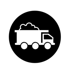 mining truck vehicle isolated icon vector image
