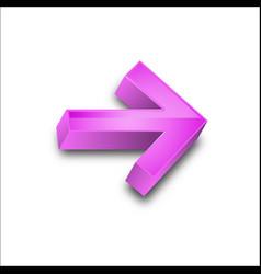 3d arrows colors vector image