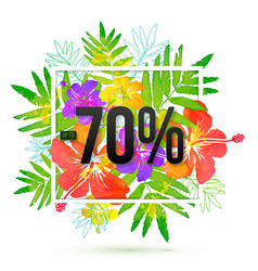 70 percents discount banner template on vector image
