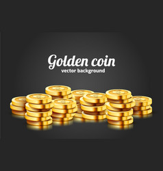 a lot coins on black background jackpot or vector image