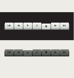 a set of media player control buttons vector image