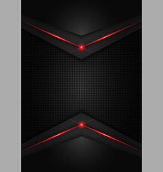 Abstract metallic red shiny color black frame vector