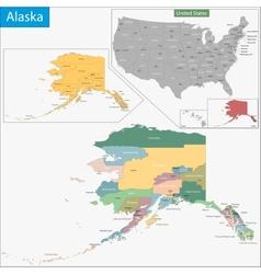 Alaska map vector image