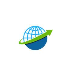 arrow globe logo icon design vector image