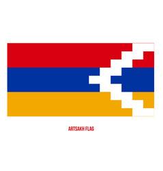 Artsakh flag on white background national vector