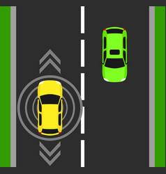 autonomous car top view background digital vector image