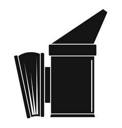 Bee smoker icon simple style vector
