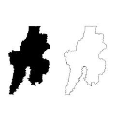 Bekasi city republic indonesia java island map vector