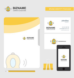bell business logo file cover visiting card and vector image