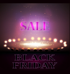 black friday sale background discount item vector image