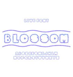 Blossom font alphabet vector