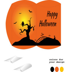 Bonbonniere happy halloween vector