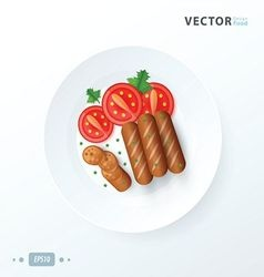 breakfast Hot dog grill vector image