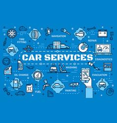 Car diagnostic automobile repair service center vector