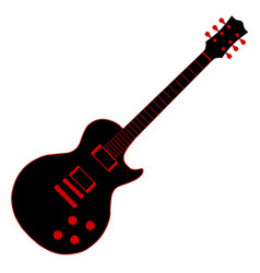 Cartoon black guitar vector