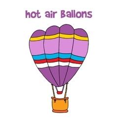 Cartoon of hot air balloon vector