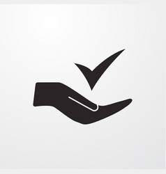 Check in hand icon for web and mobile vector