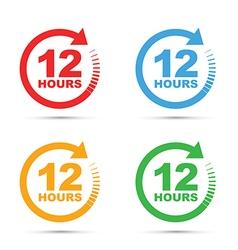 Colour set 12 hours vector
