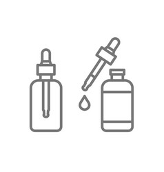 cosmetic oil bottles icons isolated on white vector image