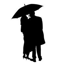 couple under an umbrella vector image