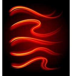 Curly light streaks vector