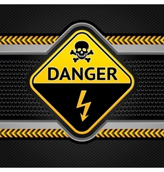 danger electricity background vector image