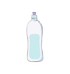 dishwashing liquid kitchen dish wash vector image