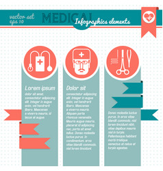 dotted medical infographic vector image