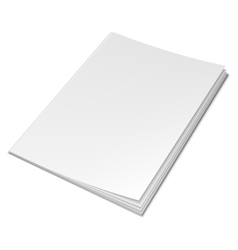 Empty White Book vector image
