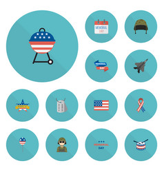 Flat icons identity decoration awareness and vector