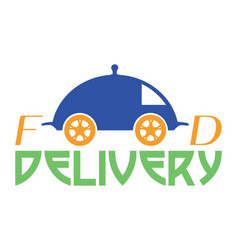 food delivery logo vector image