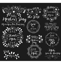 Happy Mothers DayInsignias logotypes badges vector image
