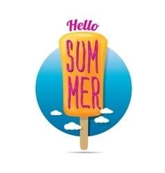 Hello summer creative concept icon vector