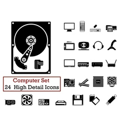 icon set Computer vector image