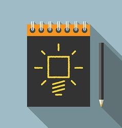 Idea pencil and notebook vector image