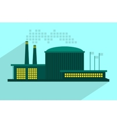 Industrial power plant in flat vector