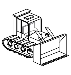 Isolated under construction machinary design vector