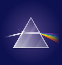 Light refraction vector image