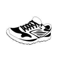 logo sneakers in the vector image