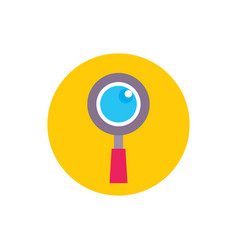 magnifier lens - concept icon in flat graphic vector image