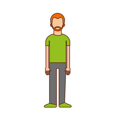 male avatar cartoon standing character man vector image