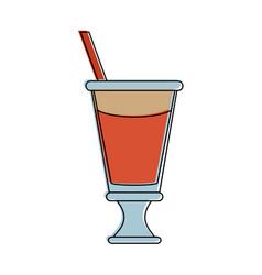 Milkshake with whipped cream icon image vector