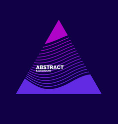 Modern abstract element with dynamic waves vector