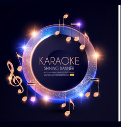 music event shining banner with golden notes vector image